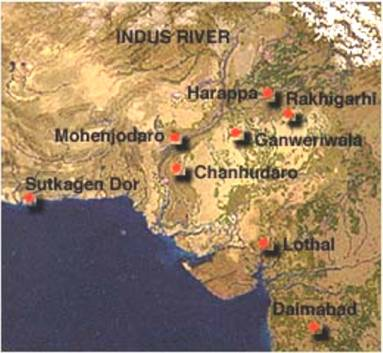 Harappa World Map.The Indus Valley Mohenjo Daro Harappa Ancient Man And His First