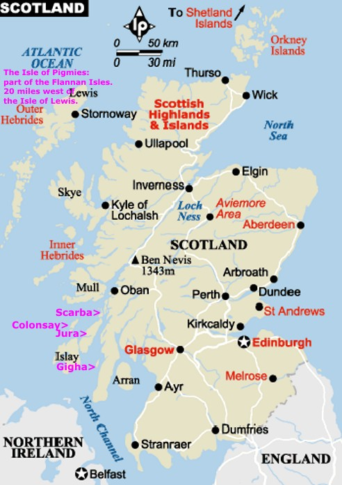 Impertinent image with printable map of scotland