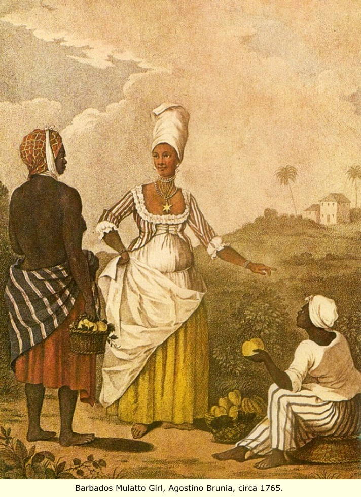 What kind of clothing did the colonists wear in Barbados in the 1600s?