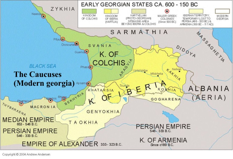 Iberia World Map.Colchis And The Eastern Kingdom Of Iberia