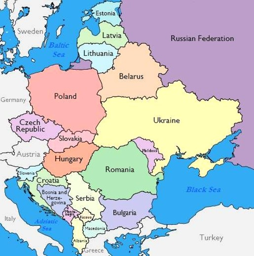 Map Of Northeastern Europe Thefreebiedepot
