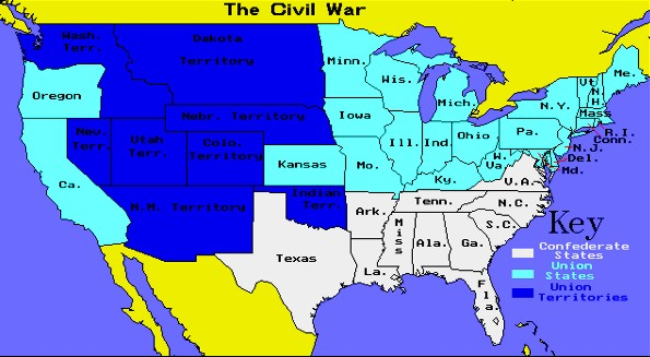 The Events Leading To The American Civil War Lessons Tes Teach - Us map before civil war