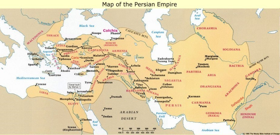 The Black, White, and Mulatto people of the Persian Empire