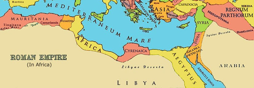 roman north africa map North African History roman north africa map