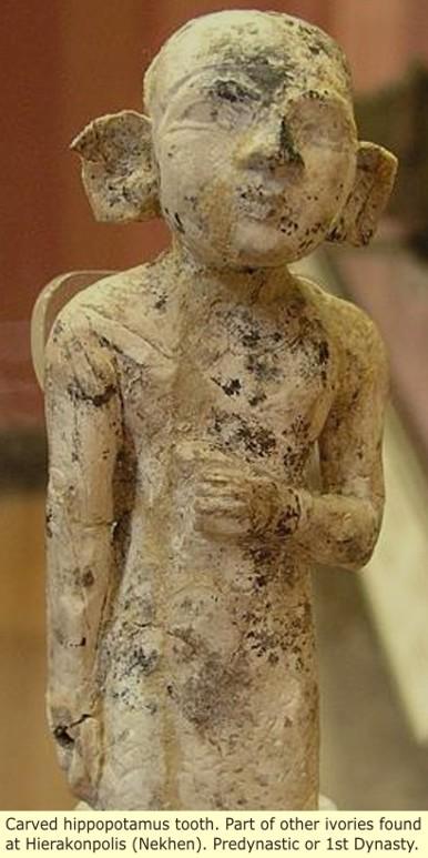 Figuras masculinas, predinástico Hippo_ivory