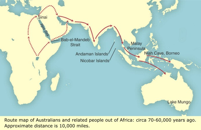 Map Of Australia 60000 Years Ago.Cro Magnon And Homo Sapien Ancient Man And His First Civilizations